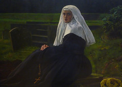 Millais's The Vale of Rest with detail of nun and Rosary