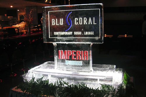 Blu Coral Sushi Station ice sculpture