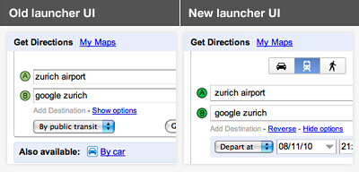 Google Maps Improves Directions Interface & Adds Navigation To ... on