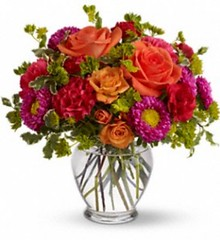 "#10V $75 Citrus Color Impact bouquet • <a style=""font-size:0.8em;"" href=""http://www.flickr.com/photos/39372067@N08/5402993638/"" target=""_blank"">View on Flickr</a>"