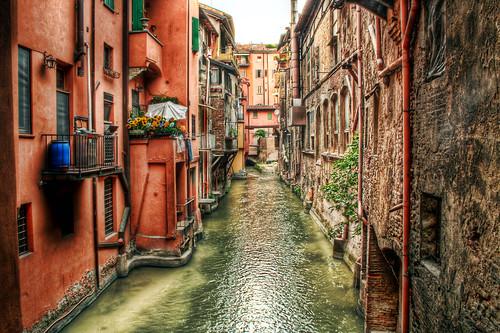 i canali di bologna. emilia romagna, italia, italy