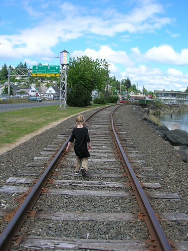 Walking The Train Tracks