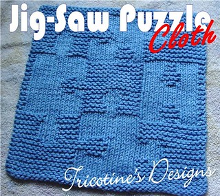 Jigsaw Blanket Knitting Pattern : Ravelry: Jigsaw Puzzle Cloth pattern by Tricotine
