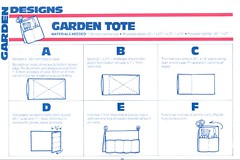 Garden tote from a towel