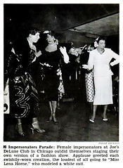 Female Impersonators on Parade - Jet Magazine, July 10, 1952 (vieilles_annonces) Tags: old people usa black history vintage magazine print drag scans fifties photos african negro glbt retro ephemera transgender nostalgia photographs american rights 1950s transvestite blacks americana colored 50s magazines dragqueen folks oldphotos civilrights blackhistory 1952 vintagephotos chicagoillinois glbtq africanamericanhistory peopleofcolor vintagephotographs femaleimpersonator vintagemagazine coloredpeople mendressedaswomen negrohistory coloredfolk blackmagazines blacknews joesdeluxeclub