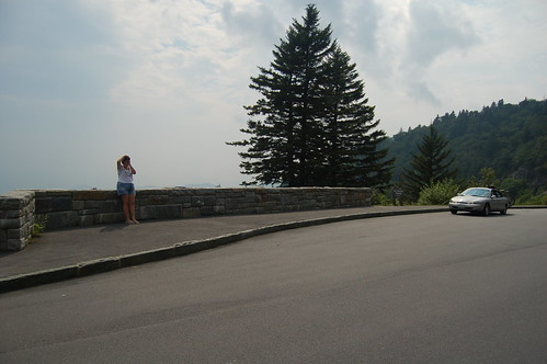 Blue Ridge Parkway - Sarah and car
