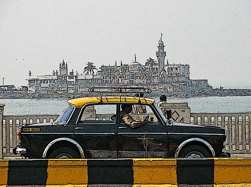 Taxi at Haji Ali - IMG 0001 ep sm