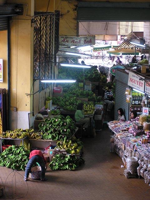 Bananas at Dalat Market Vietnam