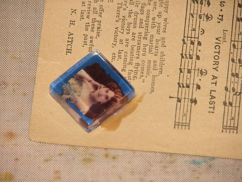 Distressed Glass Tile Charms II 001