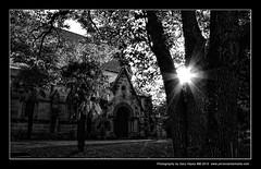Glebe Anglican Church - Sydney Insights 2010 May 37 (Gary Hayes) Tags: sunset bw sunrise cityscape sydney suburbia citylife australia urbanlandscapes lightwaves lumixlx3 canon40d leicadlux4 canon5dii 1635mmllens