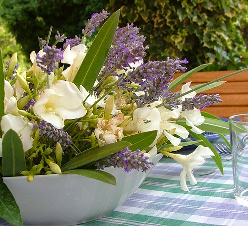 centerpiece wednesday - Lavender &oleander