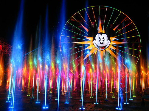 Fountains Illuminated in Colors, World of Color, Disneyland Resort