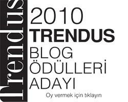 TRENDUS BLOG ÖDÜLLERİ ADAYI