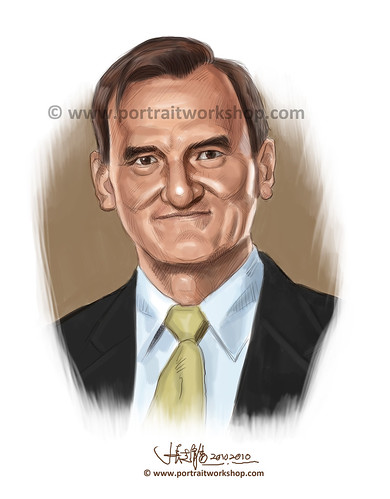 digital portrait illustration of Michael Grenville Gray (revised) watermark