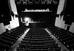 the final act (Andy B&W) Tags: california old bw art silhouette 1931 mono los theater angeles brothers empty stage warner seats deco
