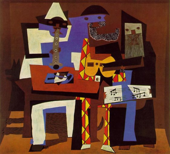 Musiciens aux masques (Three Musicians)