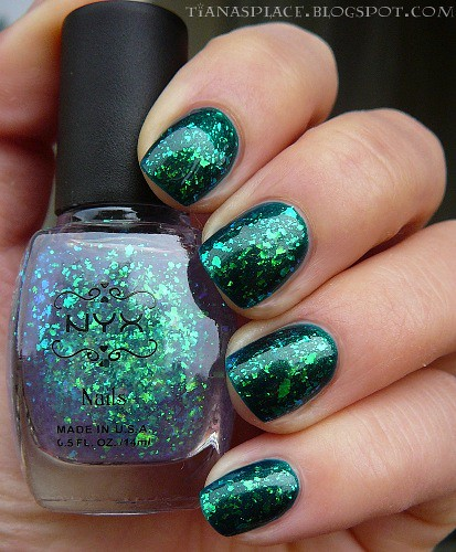 Barry M - Racing Green + NYX - Purple Ave #2