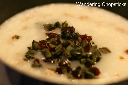 Chao  Congee  Jook Thit Heo Bam Hot Vit Bac Thao (Vietnamese  Chinese Rice Porridge with Ground Pork and Preserved Duck Egg) 9