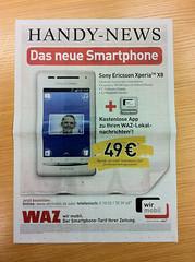 """""""wir mobil"""" Handy-News (Mobilfunk-Werbung der WAZ-Mediengruppe)"""
