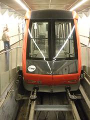 funicular, Montjuc (sftrajan) Tags: barcelona espaa spain espanha transit funicular funicolare espanya funiculaire funicularrailway standseilbahn inclinedrailway  funiculardemontjuc siklvast