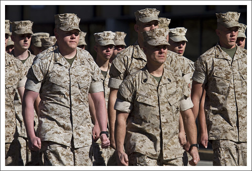 Marines On The March