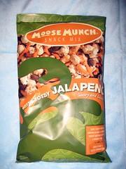"""Hotsy Totsy Jalapeno"" Moose Munch snack mix (package)"