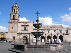 Convento de San Francisco, Morelia, Mexico (amgriffiths) Tags: church fountain mexico francisco morelia convento