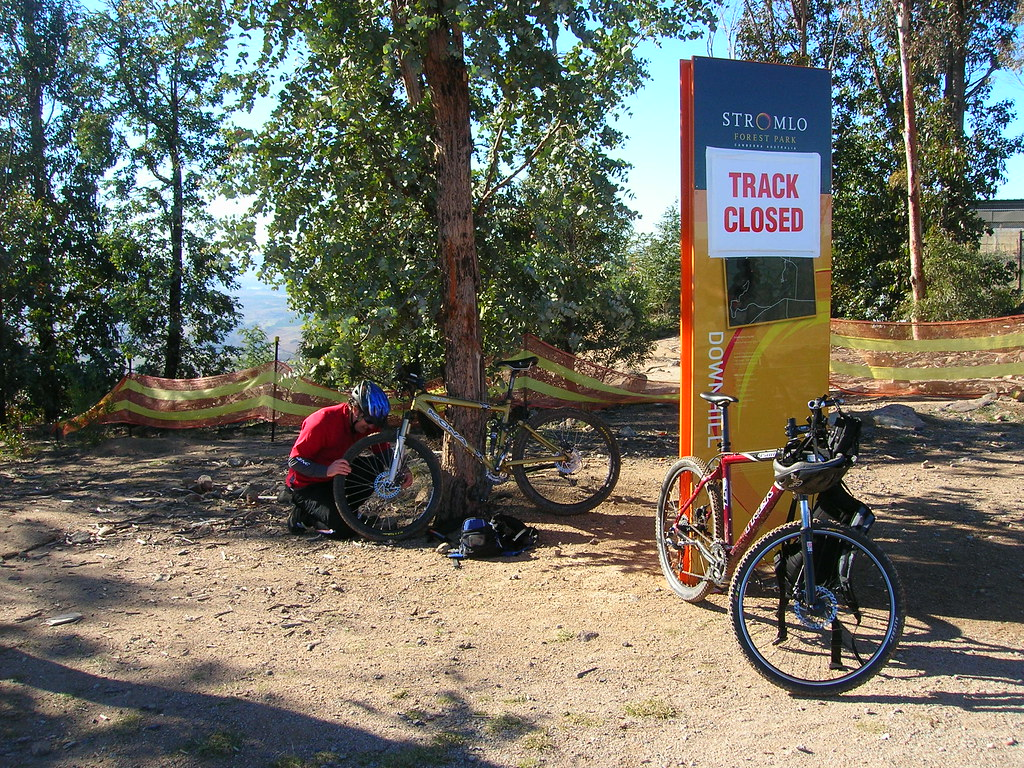 Stromlo Forest Park - Downhill track closed