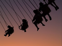 swinging sunset (on2wheelz) Tags: sunset silhouette fun amusement ride fair swing explore coolest 2007 marincountyfair i500 interestingness339 jeffav explore20070704 jarcher on2wheelz jeffarcher raficutter2002 raficutter jeffav2007