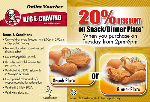 KFC Online voucher | PASIM | Promotions and Sales in Malaysia