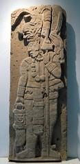 Maya Warrior (Ilhuicamina) Tags: archaeology mexico maya carving oaxaca warrior stela spear tamayo atlatl
