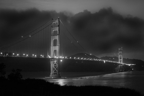 golden gate bridge black and white. Golden Gate Bridge Black and