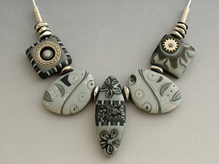 Black-n-Silver (julie_picarello) Tags: house yellow julie clay designs polymer gane mokume picarello