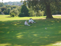 Relaxing in the sun at cricket (Gordie in London) Tags: cc graces