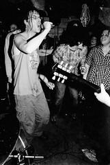 Citizen Fish - Milwaukee, WI (the roadiegirl) Tags: uk england bw film bath punk tour subhumans phil milwaukee pabstblueribbon cultureshock skapunk citizenfish basementshow ukpunk dicklucas diypunk theroadiegirl punksontour dangatewood philsarm
