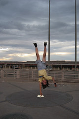 Handstand at Four Corners, USA (marcy0414) Tags: arizona usa newmexico monument photoshop utah colorado daniel handstand fourcorners fourcornersmonument handstandatfourcorners