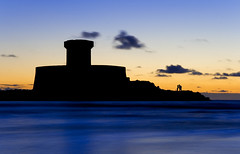 Romance at the fort (Corica) Tags: uk longexposure greatbritain blue sunset sea tower water clouds britain tripod jersey channelislands ouens laroccotower stouensbay stouens corica canon1755mm canon400d superaplus aplusphoto stouensbeach