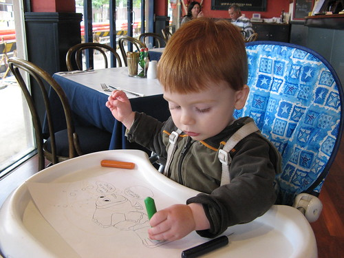 Henry Draws in the Cafe
