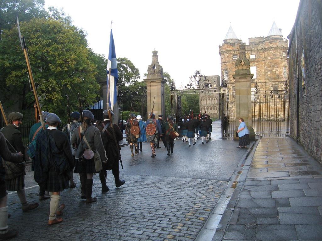Bonnie Prince Charlie enters Holyrood Palace