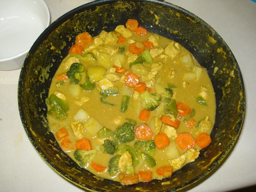 Chicken and Vegetable Curry being cooked