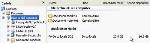 Fig. 1 - Compattazione disco virtuale - spazio iniziale guest