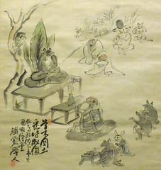 Portland Art Museum - 19-20c Tomioka Tessai - Everyone Becomes Buddha closer
