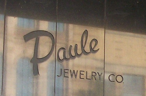 Paule Jewelry Co Ghost Sign