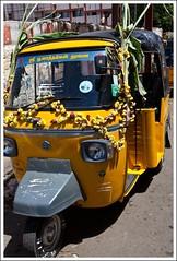 All Decked up (Ravi Shanker Seethapathy) Tags: auto flower canon eos market ravi rickshaw coimbatore shanker 5dm2 poomarket