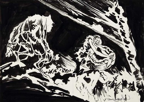 DC Special Series 1978 Swamp Thing prelim by Berni Wrightson