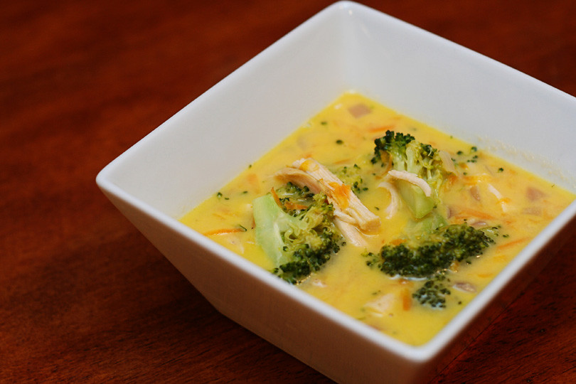 Chicken Cheddar Broccoli Soup