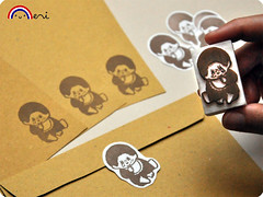 Monchichi letter set stationery (Memi The Rainbow) Tags: old vintage children toy toys monkey carved kid child hand handmade stamps rubber carving retro stamp stuff stamping tampon rubberstamp monchichi monchhichi childish zakka tampons handcarved stampini