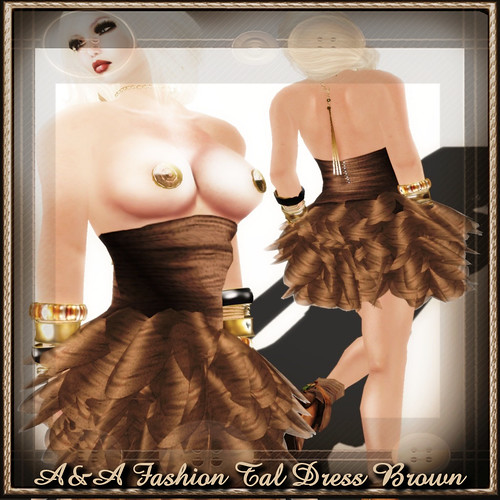 A&A Fashion Tal Dress Brown