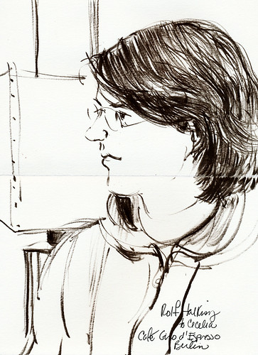 Berlin sketcher Rolf Schroeter