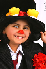 "The Baby Clown  ;"") (Dana__23) Tags: portrait people baby cute girl beautiful face kids angel canon children kid child clown picture handsome dana kuwait mylove 2007 lora lura myheart"